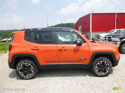 jeep renegade trailhawk orange omaha orange 2015 jeep renegade trailhawk 4x4 exterior