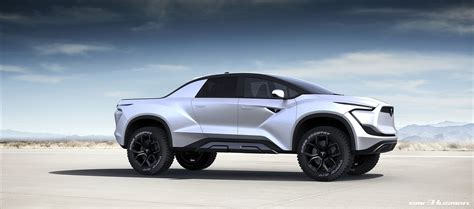 tesla model p    electric pickup truck concept