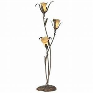 Calla lily bouquet table lamp let there be light for Gold flower floor lamp