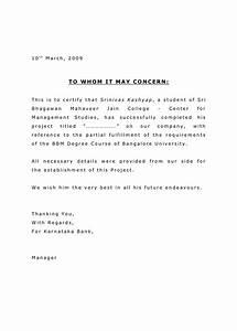 pletion Letter Format