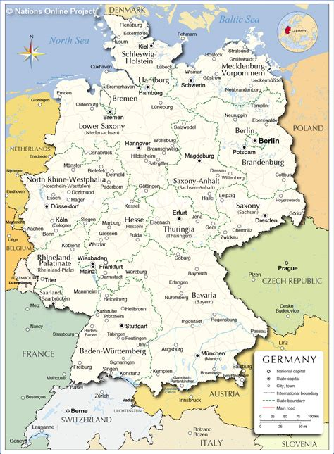 administrative map  germany nations  project