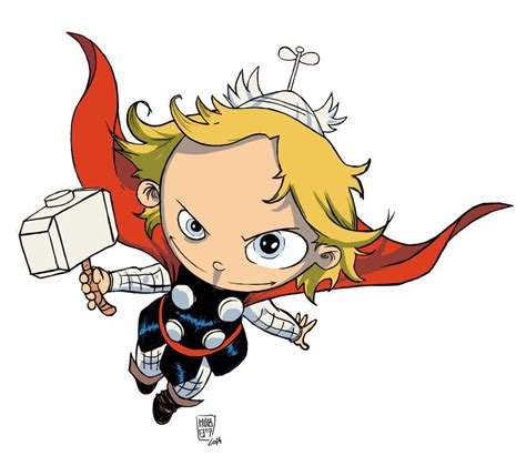 foto de Thor Skottie Young Colored by MnB89 on DeviantArt