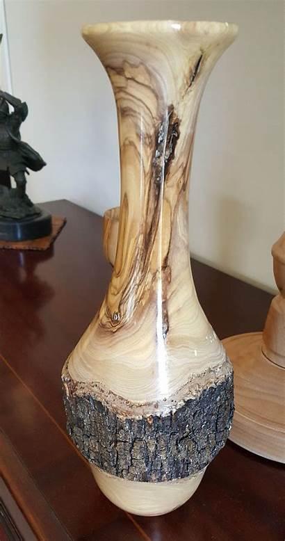 Wood Lathe Vase Turning Turned Projects Olive