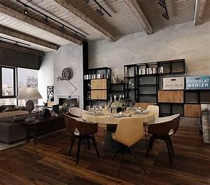 rustic industrial interior design ideas With industrial design ideas for home