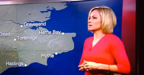 Watch dramatic moment BBC weather girl FAINTS live on air ...
