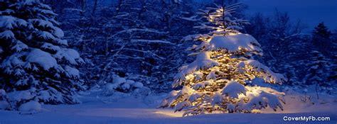 snowy christmas tree facebook covers snowy christmas tree