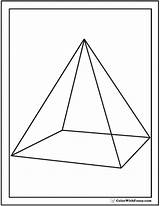 Pyramid Coloring Pages Shape Square Base Triangular Triangles Squares Circles Template Colorwithfuzzy sketch template