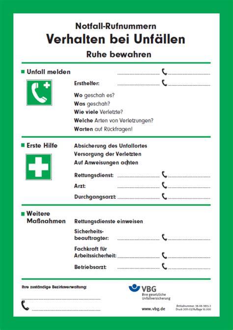 info map erste hilfe brandschutz verhalten bei unfaellen