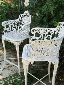 Vintage Wrought Iron Patio Furniture Ebay by Vintage Victorian White Ornate Wrought Iron Chair Indoor