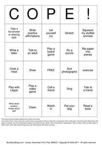 Coping Skills Bingo Printable