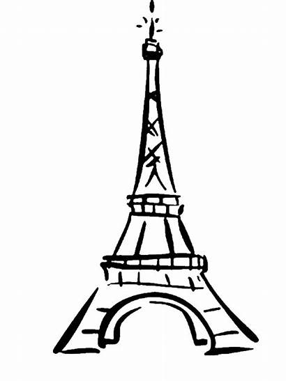 Tower Coloring Eiffel Destination Pages Colored