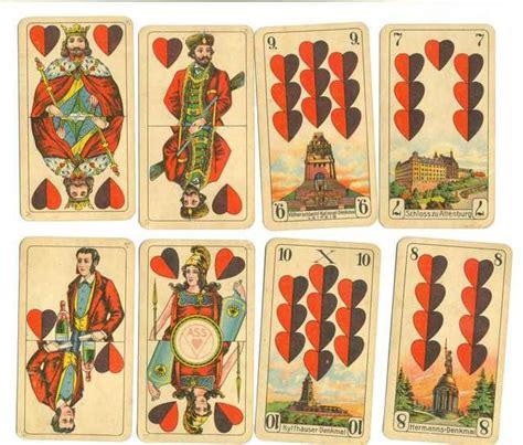 german playing cards cards card art playing cards