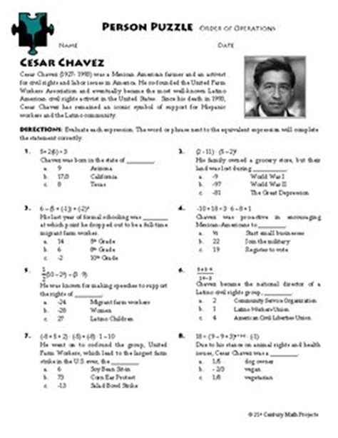 person puzzle order  operations cesar chavez