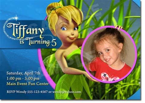 great tinkerbell birthday invitation ideas