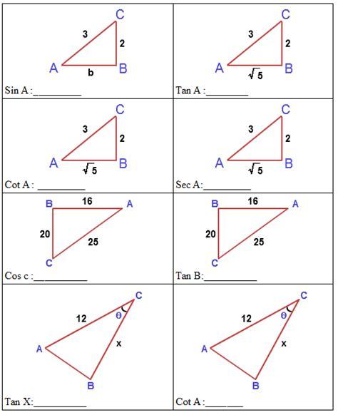 worksheet trigonometry worksheets with answers hunterhq