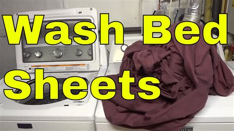 how to wash bed sheets step by step tutorial youtube