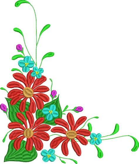 border designs with flowers flower corner borders clipart best