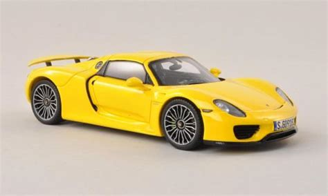 porsche spyder yellow porsche 918 spyder yellow 2013 spark diecast model car 1