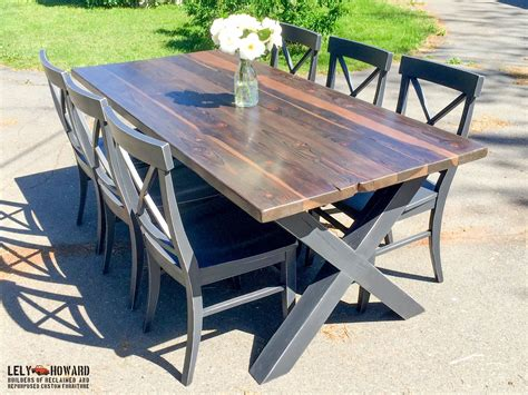 This Custom Dining Table Was Built Using Reclaimed Douglas