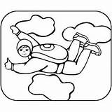 Coloring Sky Diving Pages Skydiving Sheet Printable Getcolorings Freecoloringsheets sketch template