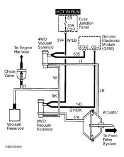 1997 Ford F 150 Vacuum Diagram by Will Not Shift Into 4wd Hi Or 4 Wd