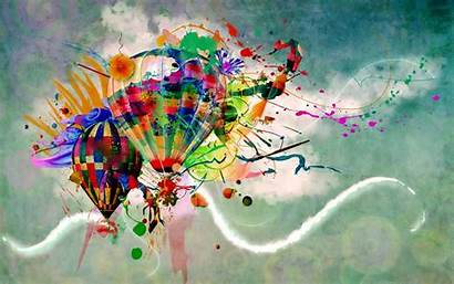 Air Balloons Artistic Splashed Wallpapers13