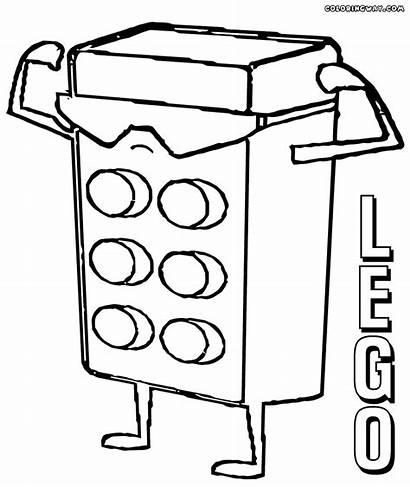 Coloring Lego Block Minifigures Popular