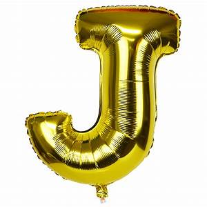 30quot foil mylar balloon gold letter j With big gold letter balloons