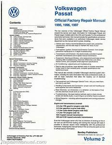 Volume 2 Only Volkswagen Passat  B4  Repair Manual 1995 1996 1997 Gasoline Turbo Diesel Tdi 4