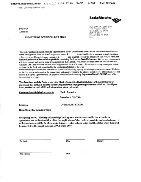 bank of america letter of credit bank of america approves on 2nd trust home