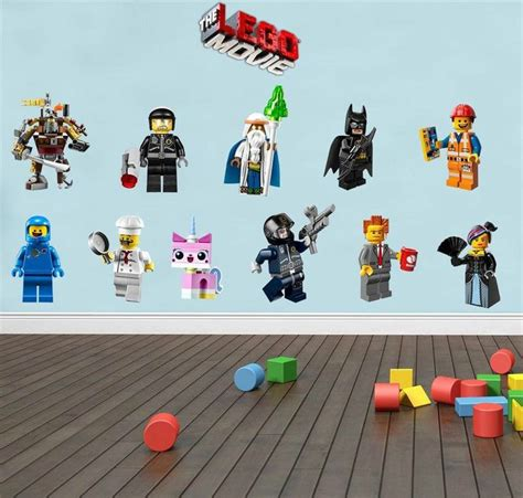 Lego Movie 11 Characters Decal Removable Wall Sticker Home