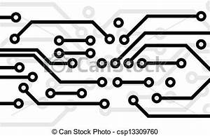 circuit board black circuit board on white background With circuit board lines