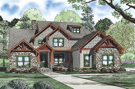 Craftsman Style House Plan 4 Beds 3 Baths 3600 Sq/Ft