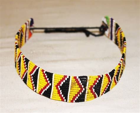 african maasai masai beaded ethnic tribal choker necklace
