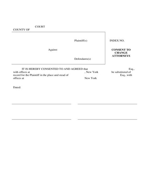 free consent to change attorney form consent to change attorneys free download