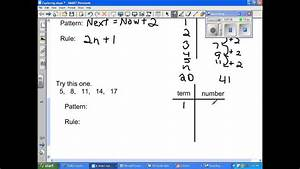 Patterns And Sequences 8th Grade Math Youtube