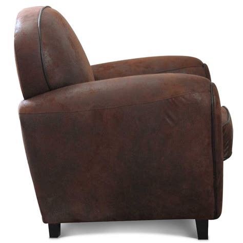 fauteuil croute de cuir fauteuil club en microfibre effet cro 251 te de cuir demeure et jardin