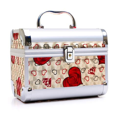 luxury aluminum alloy women cosmetic bags toiletry bag
