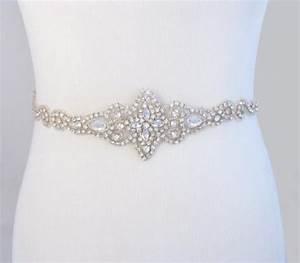 bridal belt crystal rhinestone wedding dress sash With wedding dress belts crystal