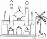Gambar Masjid Coloring Mewarnai Gambarmewarnai Disimpan Buku Dari Islami sketch template