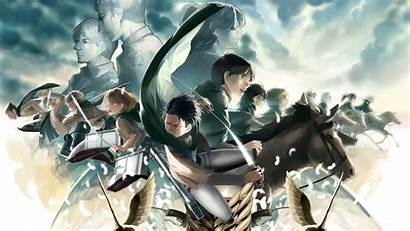 Corps Survey Titan Attack Wallpapers Aot Anime