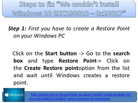 couldn t install windows 10 error 0 xc1900101 0x20017