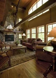 Rustic Cabin Rustic Living Room Minneapolis By