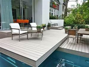 Terrassengestaltung Ideen Beispiele : 21 besten terrassengestaltung mit wpc dielen ideen beispiele bilder auf pinterest ~ Frokenaadalensverden.com Haus und Dekorationen