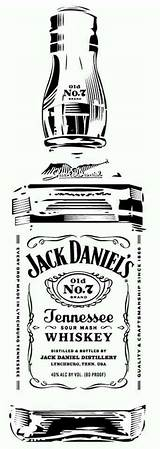 Jack Daniels Stencils Bottle Whiskey Stencil Silhouette Tattoo Pyrography Daniel Clip Glass Vinyl Templates Cameo Projects Label Clipart Etching Coloring sketch template
