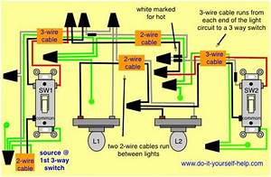 Wiring Diagram 3 Way With 2 Lights In 2019