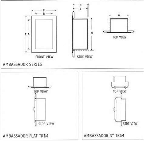 Recessed Extinguisher Cabinet Dimensions by Extinguisher Cabinets