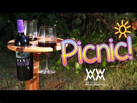 folding wine stand perfect  picnics summer fun youtube