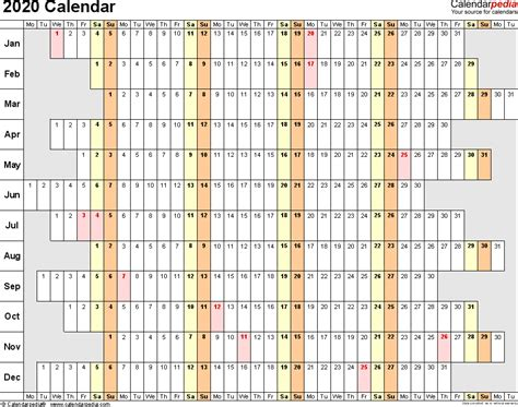 calendar printable word calendar templates