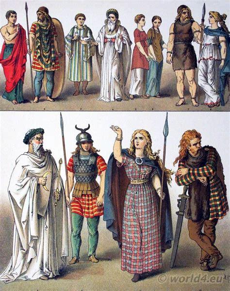 Ancient British, Gallic and German costumes. | Celtic ...